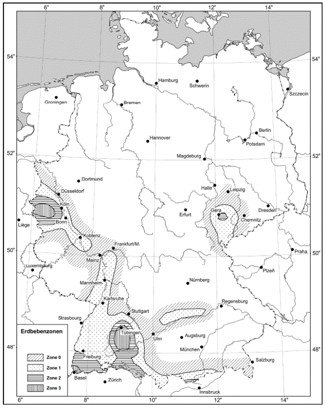 Erdbebenzonen DE (alt)