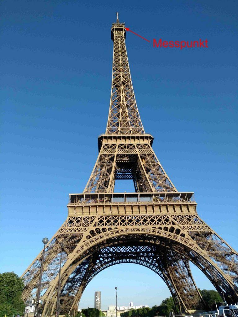 Messpunkt auf dem Eiffelturm